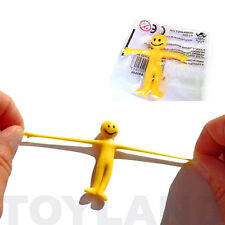 8 X Kids Yellow Smiley Stretchy Men Party Bag Loot Toys Filler Stress