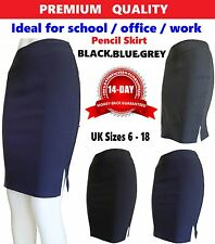 Womens Bodycon Girls Pencil Skirt Stretch Ladies Midi Party Office school Skirt