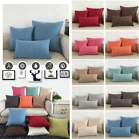 Solid Color Pillowcase Hotel Home Bedding Pillow Cases Covers Standard Size Gift