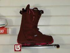 New 2014 Burton Emerald Snowboard Boots Size 7 Burgandy