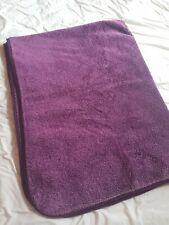 Faux fur double bedspread/blanket - purple
