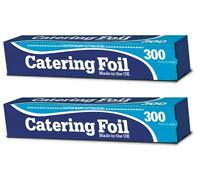 2 x Kitchen Catering Aluminium Foil Oven Roasting Grill Baking Wrap 300mm x30m
