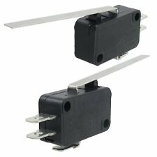 2Pcs Straight Hinge Lever 3Pins Basic NO NC Momentary Micro Switch DT