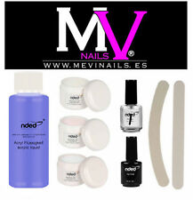 KIT  MONOMERO + 3 POLVOS ACRILICOS + PRIMER + TOP COAT + LIMAS / TIPS /  NDED