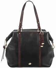 NWT $425 AUTH BRAHMIN DELANEY BLACK TUSCAN COAST SATCHEL BAG  #1115M