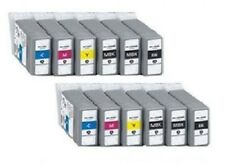 12 Tinte für Canon iPF510 iPF605 iPF610 iPF655 iPF700 LP24 PFI-102 MBK BK C M Y