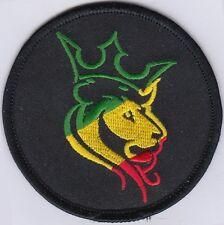 """5 RASTA BOB Lion Embroidered Patches  3"""" Diameter iron-on"""