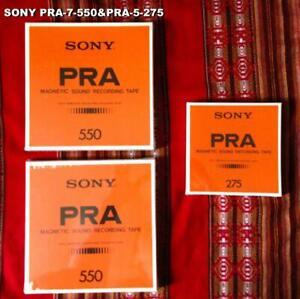 SONY PRA-7-550 & PRA-5-275 Open Reel Vintage Tapes NEW F/S
