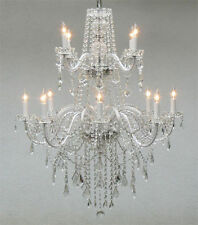 AUTHENTIC ALL CRYSTAL CHANDELIER CHANDELIERS LIGHTING *FREE SHIPPING!*