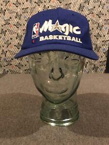 Vtg Orlando Magic NBA Champion Script Blue Snapback Hat NWOT