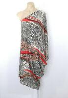 PQ The Label Size L (12, 10, 8 UK) Animal Print Stretch Kaftan Dress BNWT