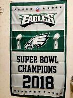 Philadelphia Eagles Super Bowl Champions Flag 3X5 FT NFL Banner Polyester