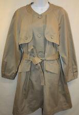 Womens Ladies Vera Wang Khaki Trench Fall Spring Winter Coat Size Medium