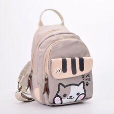 Anime Katzen Muster Segeltuch  Rucksack Neko Atsume Mädchens Schultertasche