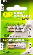2 GP23AE GP 23A MN21 A23 V23GA VR22 12 VOLT Batteries EXPIRE 2018