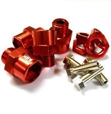 N10178R 1/10 escala M12 12 Mm a M17 17 Mm Adaptador De Buje hexagonal de Rueda de Aleación Rojo X 4