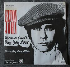 Elton John, mama can't buy you love / three way love .... , SP - 45 tours import