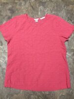 Bright Pink Casual Short Sleeve Blouse Christopher & Banks Sz S Top Shirt Womens