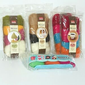 Daiso Wool Felt  Lot of 5 Mixed Packs and Colours