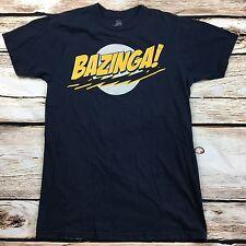 Big Bang Theory Mens Graphic T-Shirt Size Medium Bazinga Black