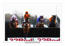 KEMPTON 2016 THISTLECRACK TOM SCUDAMORE KING GEORGE VI HORSE RACING A4 PHOTO 1
