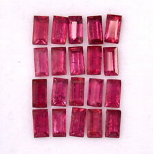 3.84 Cts Natural Ruby Baguette Cut 4x2 mm Lot 20 Pcs Loose Gemstones GF