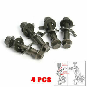 4PCS Steel Car Four Wheel Alignment Adjustable Camber Bolts 10.9 Top Intensity