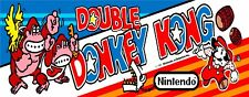 Double Donkey Kong Nintendo Arcade Marquee For Reproduction Header/Backlit Sign