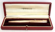 Vtg PARKER PRESIDENTIAL SINGLE 375 9ct Gold Waterdrop FOUNTAIN PEN BOXED - W34