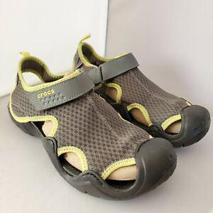 Crocs Swiftwater Mens 9 Mesh Deck Water Sport Sandals Casual Comfort Shoes 15041