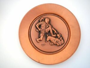 """1979 Norman Rockwell Limited Edition Collectible Copper Plate """"The Thief"""""""