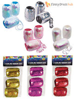 3x Curling Ribbon Eggs Holographic Iridescent Gift Present Wrap Party Decoration
