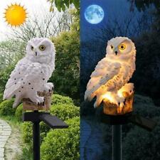 Solar Powered LED Outdoor Landscape Lights Garden Decor Owl Lamp Path Lawn Yard