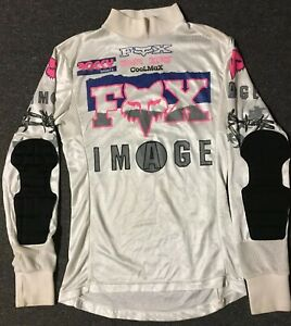 Vtg Fox Image FX Motocross Jersey M USA Made 80s 90s Barbed Wire MX Dirt Bike
