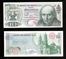 Money World From Mexico In N.America, 1 Pce Of 10 Old Pesos 1975, P-63h
