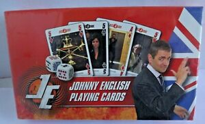 JOHNNY ENGLISH PLAYING CARDS AND DICE NEW SEALED
