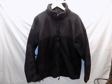 US Military Large PolarTec Cold Weather Fleece Jacket Coat Black