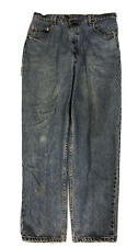 Vtg Levi's 560 Blue Men's Red Tab Loose Tapered Distressed Jeans Sz 36 X 32 USA