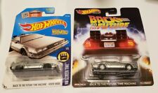 Hot Wheels Back to the Future DeLorean Time Machine Lot Of 2