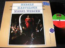 MABEL MERCER Merely Marvelous / US LP 1960 ATLANTIC SD-1322