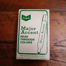 Box of 12 NEW Vtg Sanford MAJOR ACCENT Read Through ORANGE Highlighter Markers