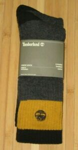 New 2 Pair Timberland Boot Crew Charcoal/ Mustard & Brown One Size fits Most Men