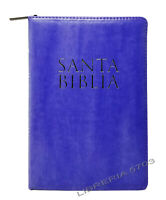 BIBLIA REINA VALERA 1960 LETRA GRANDE 12 PUNTOS CON CIERRE MORADO CON INDICE