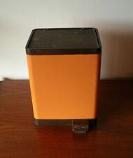 BRABANTIA Vintage Poubelle à pédale - seventies - orange