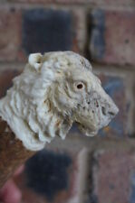 Antler Handle with lion head, Stick Making, cutlery ect. hand carved