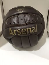 Arsenal Fc Official Retro Heritage Leather Soccer Ball (Bs701)