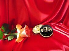 Kit 8 pc Templar cross Metal Buttons Gold  & Black  size 25mm.