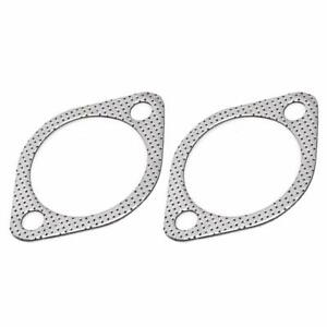 "2x Exhaust Gasket 2 Bolt 3"" Inch Downpipe Metal Multi layer Reinforced 76mm USA"