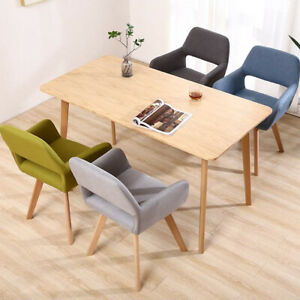 2 Pcs Dining Chairs Armchair Fabric Kitchen Dining Room Restaurant Office UK