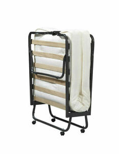 Linon 352STD-01-AS-UPS Luxor Folding Bed With Memory Foam Mattress Twin Size - …